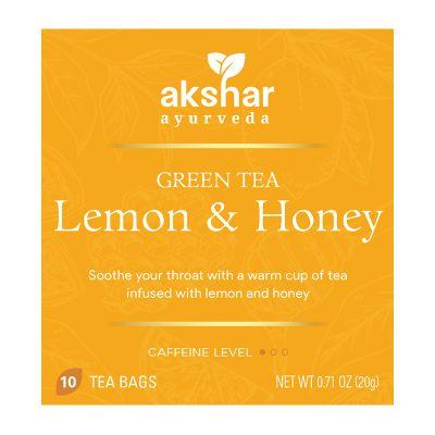 lemon & honey  green tea